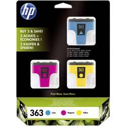 Sada náplní do tlačiarne HP 363 CB333EE, zelenomodrá, purpurová, žltá