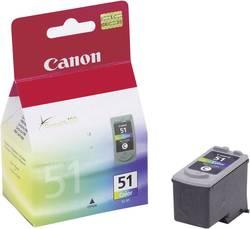 Náplň do tlačiarne Canon CL-51 0618B001, zelenomodrá, purpurová, žltá