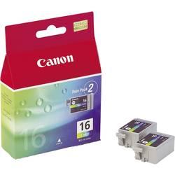 Náplň do tlačiarne Canon BCI-16 C 9818A002, zelenomodrá, purpurová, žltá