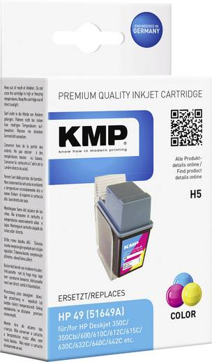 KMP Tinte ersetzt HP 49 Kompatibel Cyan, Magenta, Gelb H5 0925,4490