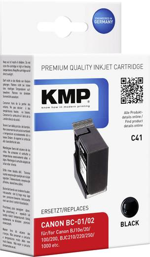 KMP Tinte ersetzt Canon BC-01, BC-02 Kompatibel Schwarz C41 0907,4011
