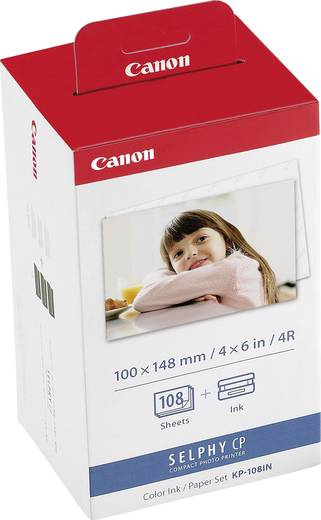 Fotodrucker Kassette (Tinte/Papier) Canon Selphy Photo Pack KP-108IN 1 Set