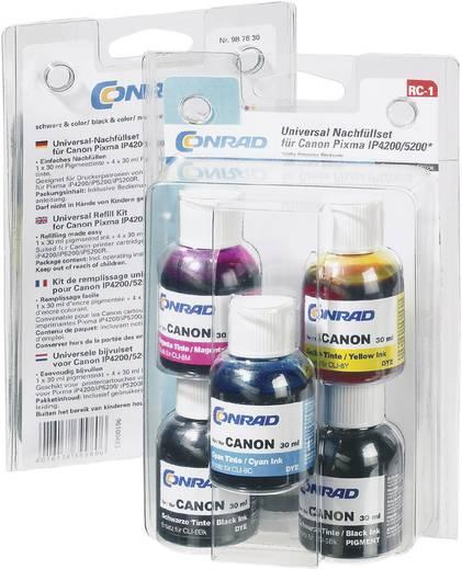 Tintenpatronen-Nachfüllset RC-1 Passend für Geräte des Herstellers: Canon Schwarz, Photo Schwarz, Cyan, Magenta, Gelb T