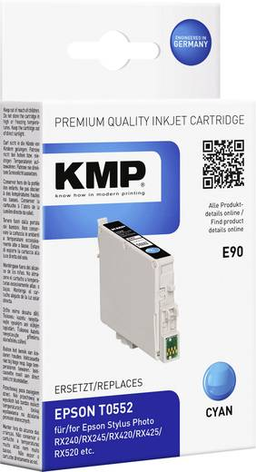 KMP Tinte ersetzt Epson T0552 Kompatibel Cyan T0552 1012,0003