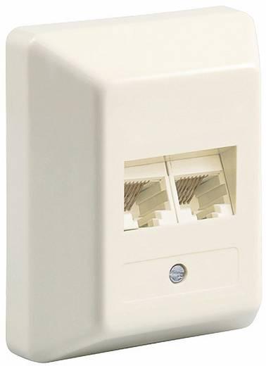 ISDN Dose Goobay TEL RNIS DAP 2xRJ45 montage en saillie 2x8 Aufputz Weiß