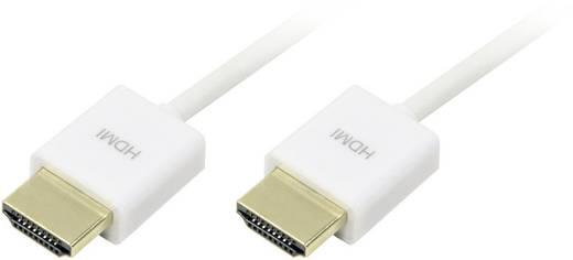 HDMI Anschlusskabel [1x HDMI-Stecker - 1x HDMI-Stecker] 1.5 m Weiß LogiLink