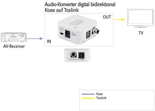 Audio Konverter [Toslink, Cinch-Digital - Toslink, Cinch-Digital] SpeaKa Professional 989125