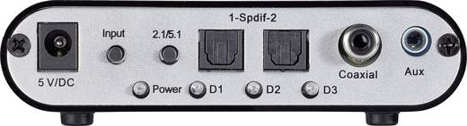 Audio Konverter [2x Toslink, Cinch-Digital, Klinke - 6 Kanal Cinch] SpeaKa Professional Digital/Analog Audio-Decoder