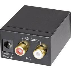AV konvertor Toslink zásuvka (ODT), cinch zásuvka ⇒ cinch zásuvka SpeaKa Professional SP-DAC-TKC SP-3956596