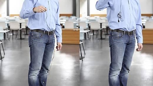 Klinke Audio Anschlusskabel [1x Klinkenstecker 3.5 mm - 1x Klinkenstecker 3.5 mm] 2 m Schwarz vergoldete Steckkontakte,