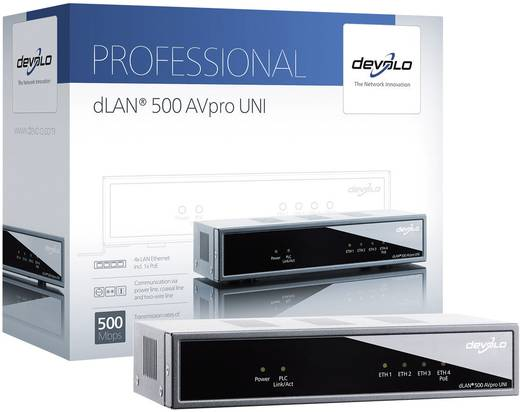Powerline Einzel Adapter 500 MBit/s Devolo Business Solutions dLAN 500 AVpro UNI
