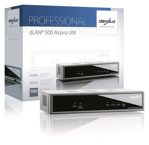 Powerline managebar Universal Adapter 500 MBit/s Devolo Business Solutions dLAN® 500 AVpro Uni