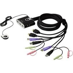 Prepínač KVM ATEN CS692-AT, 2 porty, HDMI