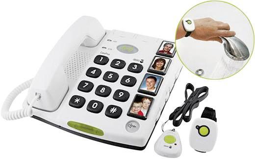Schnurgebundenes Seniorentelefon doro Secure 347 Optische Anrufsignalisierung, Freisprechen kein Display Weiß