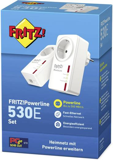 Powerline Starter Kit 500 MBit/s AVM FRITZ!Powerline 530E Set