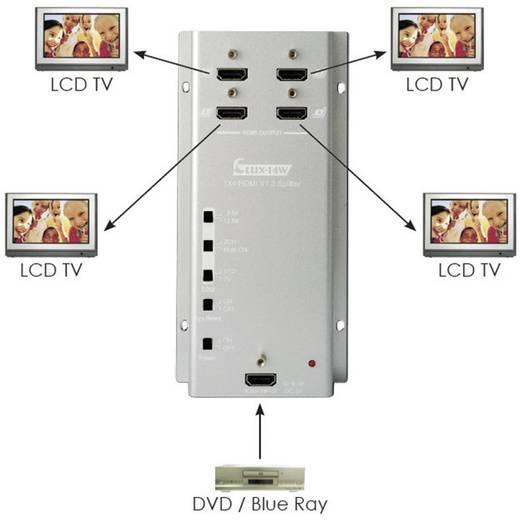 4 Port HDMI-Splitter SpeaKa Professional zur Wandmontage 1920 x 1080 pix (Full HD) Silber