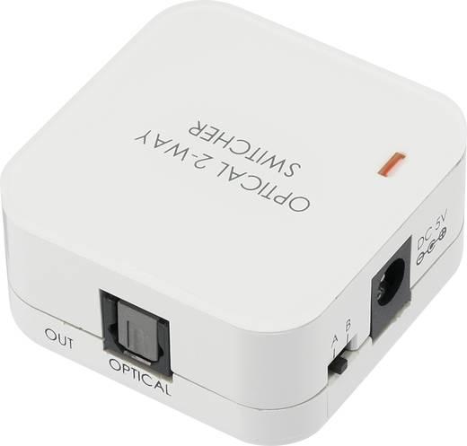 SpeaKa Professional 2 Port Toslink-Switch 989344 Weiß