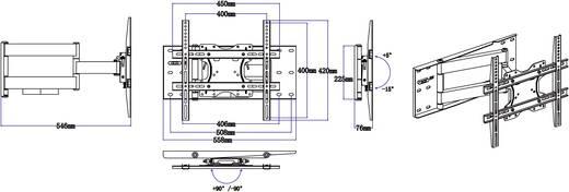 """TV-Wandhalterung 81,3 cm (32"""") - 152,4 cm (60"""") Neigbar+Schwenkbar SpeaKa Professional 989930"""