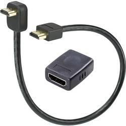 HDMI predlžovací kábel SpeaKa Professional SP-3959764, 0.3 m, čierna
