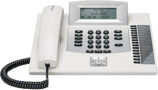 Systemtelefon, ISDN Auerswald COMfortel 1600 Headsetanschluss, Freisprechen, Touchscreen Beleuchtetes Display Weiß, Silber