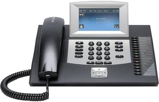 Systemtelefon, ISDN Auerswald COMfortel 2600 schwarz Anrufbeantworter, Headsetanschluss Touch-Display Schwarz, Silber