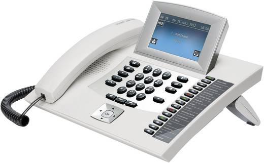 Systemtelefon, ISDN Auerswald COMfortel 2600 weiß Anrufbeantworter, Headsetanschluss Touch-Display Weiß, Silber