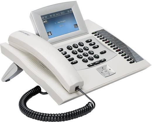Systemtelefon, ISDN Auerswald COMfortel 2600 Anrufbeantworter, Headsetanschluss Touch-Display Weiß, Silber