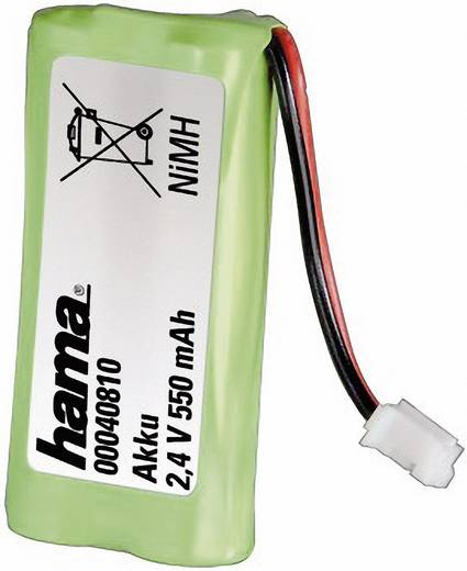 Schnurlostelefon Akku Hama NiMH Battery Pack 2,4 V/550 mAh Passend für Marke: Gigaset NiMH 2.4 V 550 mAh