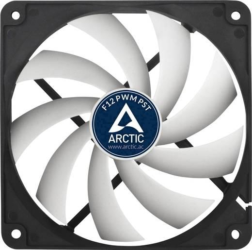 Arctic F12 PWM PST PC-Gehäuse-Lüfter Schwarz, Weiß (B x H x T) 120 x 120 x 25 mm