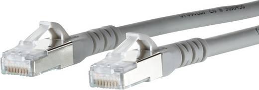 RJ45 Netzwerk Anschlusskabel CAT 6a S/FTP 3 m Grau mit Rastnasenschutz Metz Connect
