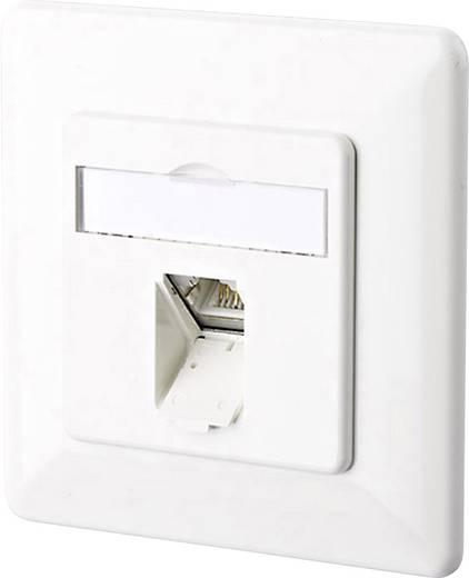 Netzwerkdose Unterputz Einsatz mit Zentralplatte und Rahmen CAT 6a 1 Port Metz Connect 130C371002-I Reinweiß