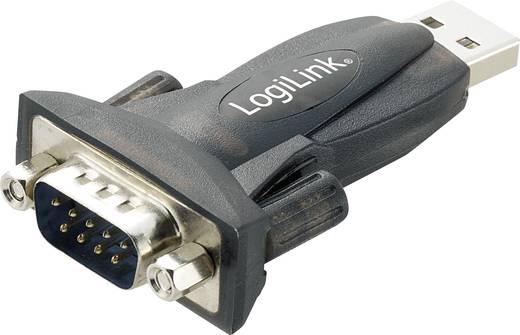 USB 2.0, Seriell Adapter [1x D-SUB-Stecker 9pol. - 1x USB 2.0 Stecker A] Schwarz LogiLink