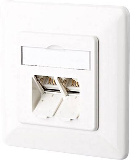 netzwerkdose unterputz einsatz mit zentralplatte und rahmen cat 6a 2 port metz connect. Black Bedroom Furniture Sets. Home Design Ideas