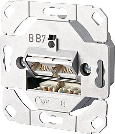 netzwerkdose unterputz einsatz cat 6a 2 port metz connect. Black Bedroom Furniture Sets. Home Design Ideas