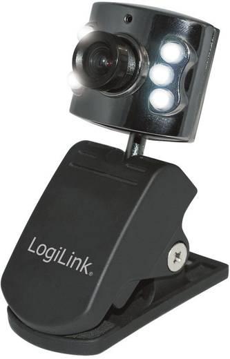 Webcam 640 x 480 Pixel LogiLink WebCam USB mit LED Beleuchtung Klemm-Halterung