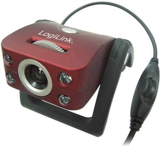 Webcam 800 x 600 Pixel LogiLink Webcam USB mit LED und Mikrofon Standfuß, Klemm-Halterung