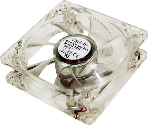 LogiLink FAN104 PC-Gehäuse-Lüfter Weiß (B x H x T) 120 x 120 x 25 mm