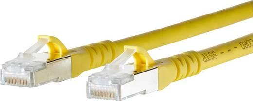 RJ45 Netzwerk Anschlusskabel CAT 6a S/FTP 5 m Gelb mit Rastnasenschutz Metz Connect