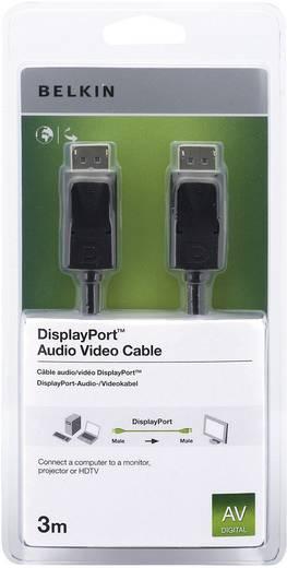 Belkin DisplayPort Anschlusskabel [1x DisplayPort Stecker - 1x DisplayPort Stecker] 3 m Schwarz