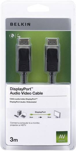 DisplayPort Anschlusskabel [1x DisplayPort Stecker - 1x DisplayPort Stecker] 3 m Schwarz Belkin