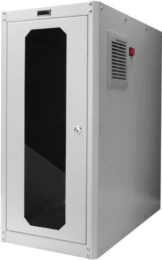 PC-Schrank Digitus Professional DN-CC 9002 mit Glastür und Lüfter (B x H x T) 300 x 650 x 600 mm Lichtgrau (RAL 7035)