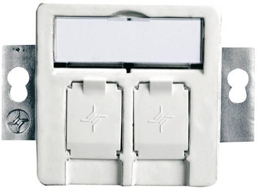 Netzwerkdose Unterputz Einsatz mit Zentralplatte CAT 5e, CAT 6, CAT 6a Telegärtner Alpinweiß