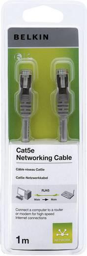 RJ45 Netzwerk Anschlusskabel CAT 5e S/FTP 1 m Grau mit Rastnasenschutz Belkin
