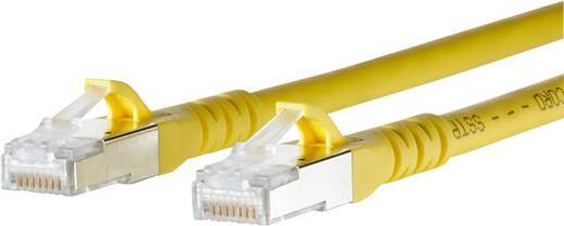 RJ45 Netzwerk Anschlusskabel CAT 6a S/FTP 0.5 m Gelb mit Rastnasenschutz Metz Connect