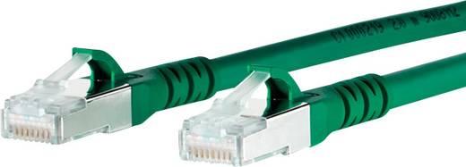 RJ45 Netzwerk Anschlusskabel CAT 6a S/FTP 10 m Grün mit Rastnasenschutz Metz Connect