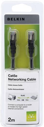 RJ45 Netzwerk Anschlusskabel CAT 5e S/FTP 2 m Schwarz mit Rastnasenschutz Belkin
