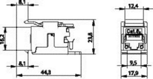 RJ45-Einbaumodul Keystone CAT 6a Telegärtner J00029K0036