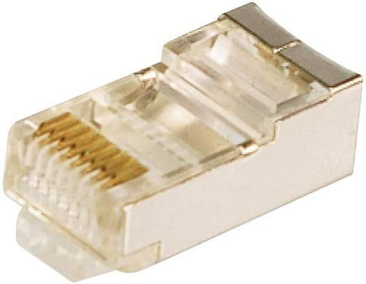 RJ45-Modularstecker CAT 5e Stecker, gerade Pole: 8P8C Silber LogiLink MP0003 100 St.