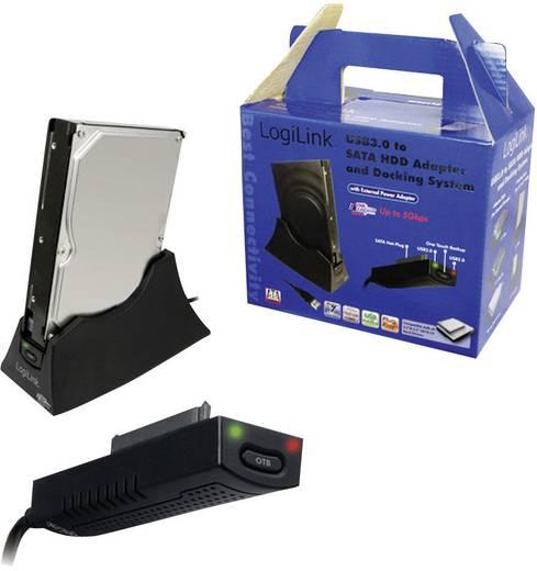 USB 3.0 SATA 1 Port Festplatten-Dockingstation LogiLink AU0008B mit OTB-Funktion