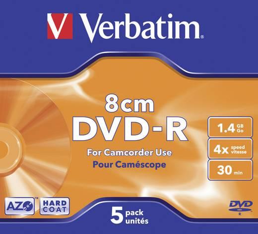 8 cm Mini DVD-R Rohling 1.4 GB Verbatim 43510 5 St. Jewelcase
